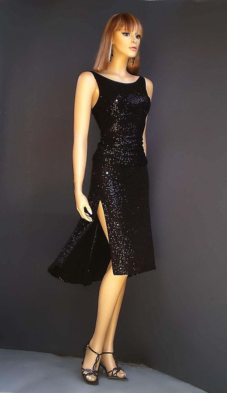 ta-022 black sequins tango set