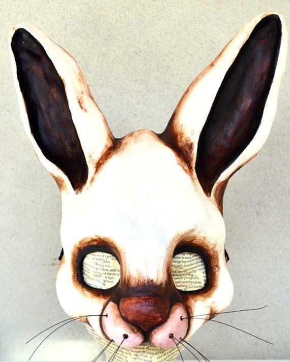 White Rabbit Mask by cleliascala on Etsy