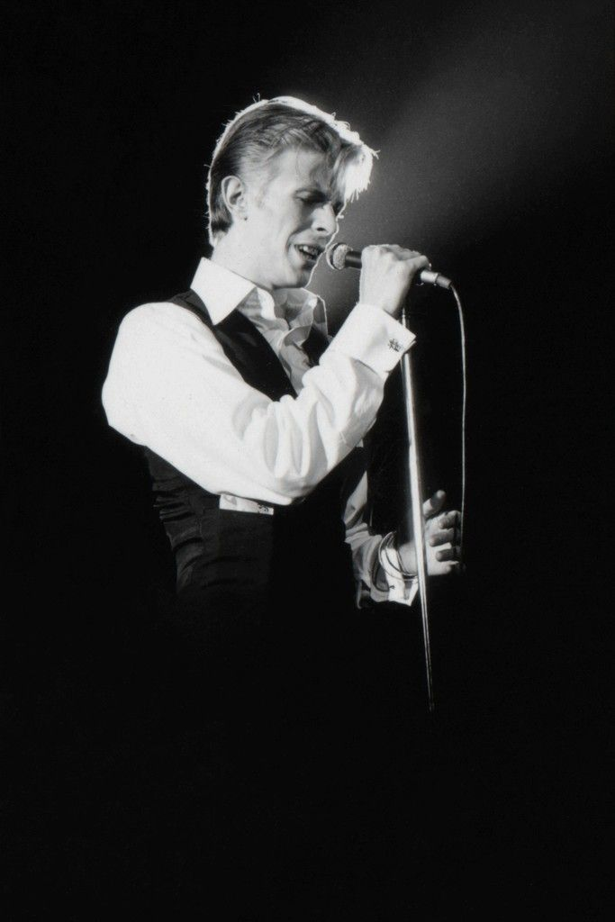 Terry O'Neill, David Bowie on Stage Spotlight, ca. 1970, Mouche Gallery