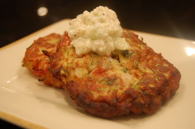 Greek Style Zucchini Fritters With Tzatziki Recipe — Dishmaps