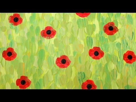 Champ de coquelicots   Animassiettes Créez un champ de coquelicot en vous inspirant de Monet. #coquelicot #Monet #Animassiettes #tutoriel #dIY #veteran #video