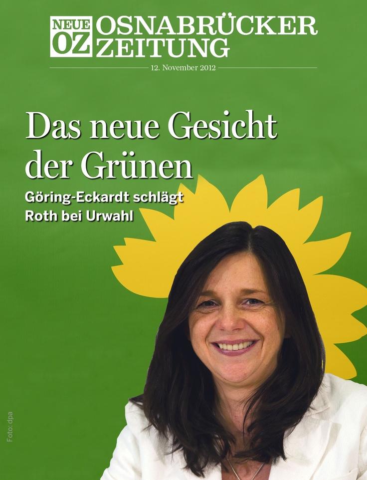 Unser App-Cover für den 12. November: Katrin #Göring-Eckardt ist das neue Gesicht von #Bündnis 90/Die Grünen.