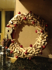 Quark Wreath, red & gold- I made this for my Mother in Law for Christmas :) Turned out beautiful!