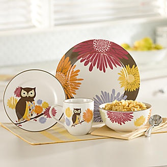 16 pc Hoot n nanny Owl Dinnerware & 725 best Dishes images on Pinterest | Dishes Dinnerware and Dinner ...