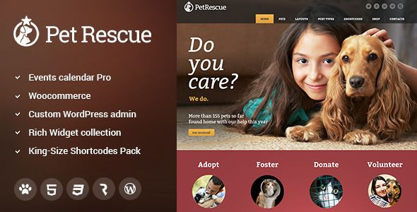 Pet Rescue – Animals & Shelter Charity WP Theme (Nonprofit) | WP Theme Guide