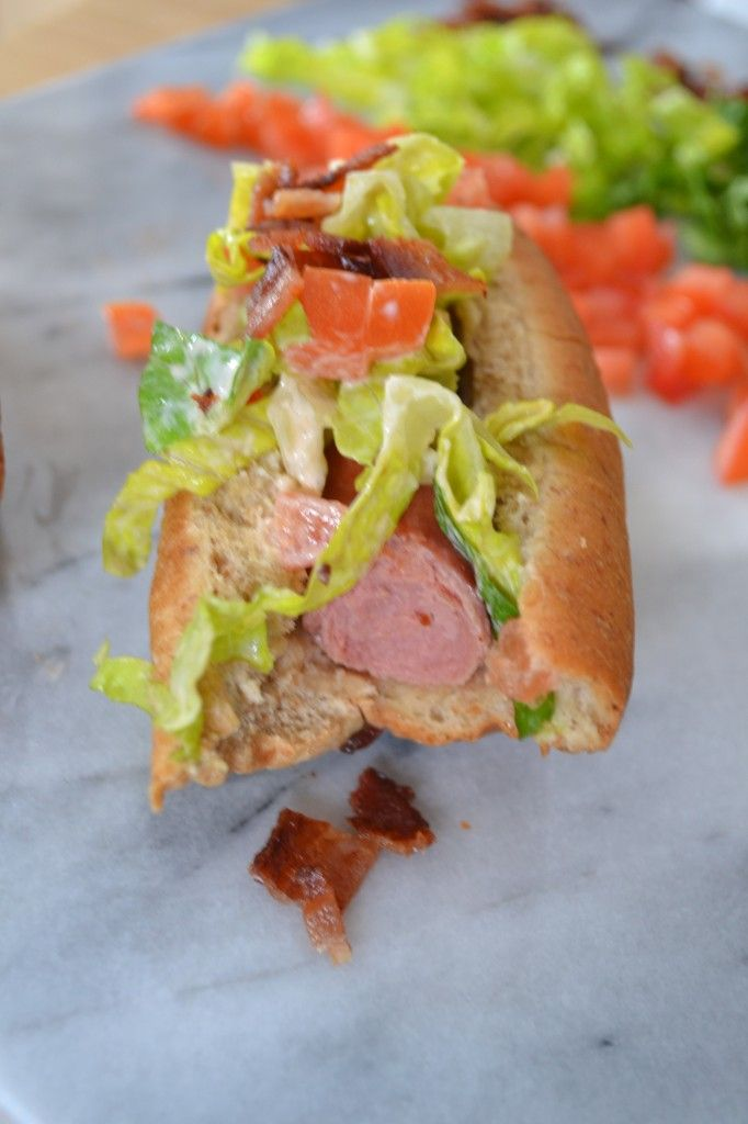 BLT Hot Dogs, because #bacon makes everything better.
