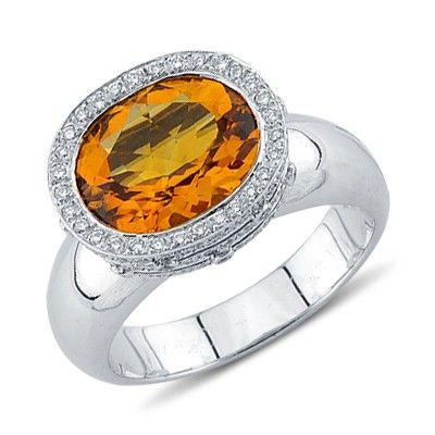 75 best Citrine Diamond Rings images on Pinterest