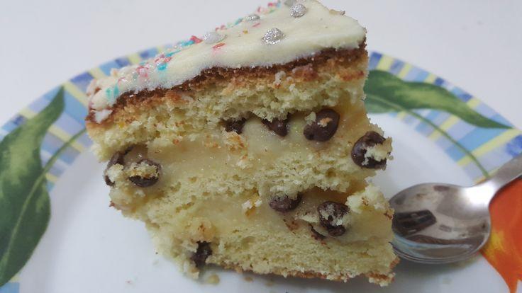 Torta+di+compleanno+crema+e+cioccolato