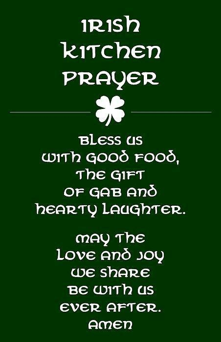 Irish Kitchen Prayer
