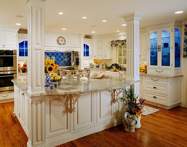 Styling A Country French Kitchen Columns Blue And And