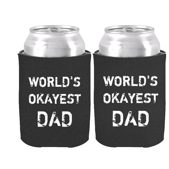 Cool Father's Day Gift of World's Okayes Can Coolers Customized Dad Gifts Beer Can Cooler Holder Drink Insulator Can Kooizes
