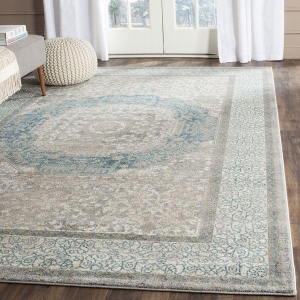 safavieh sofia vintage medallion light grey blue rug 11u0027 x