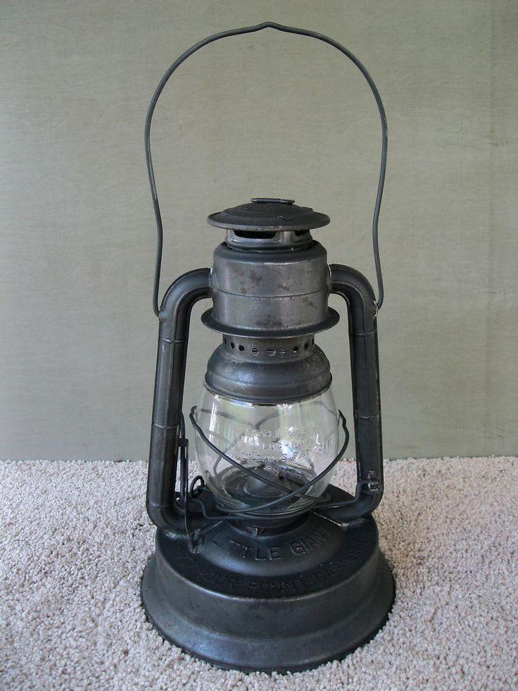 Antique Lantern DIETZ LITTLE GIANT Vtg Primitive Kerosene Oil Wagon Barn Lamp #LittleGiant #Dietz