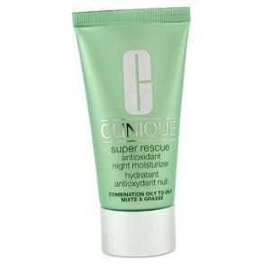 Clinique Super Rescue Antioxidant Night Moisturizer - Combination Oily to Oily 1.7 oz / 50 ml by Clinique. Save 26 Off!. $54.58. New in Box. **No U.S. Sale Tax** 1.7 oz / 50 ml. Clinique Super Rescue Antioxidant Night Moisturizer - Combination Oily to Oily. Moisturizers. Clinique Super Rescue Antioxidant Night Moisturizer - Combination Oily to OilyNo matter how well you protect your skin, sun, stress and pollution bring daily damage. A potent moisturizer works overnight to deliver a…
