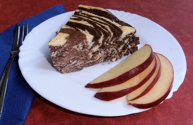 Recept na Fitness tvarohový zebra dortík – chutná jako pribináček z kategorie fitness, bezlepkové:  1 kg měkkého (polotučného) tvarohu – tj. 4 běžná ba...