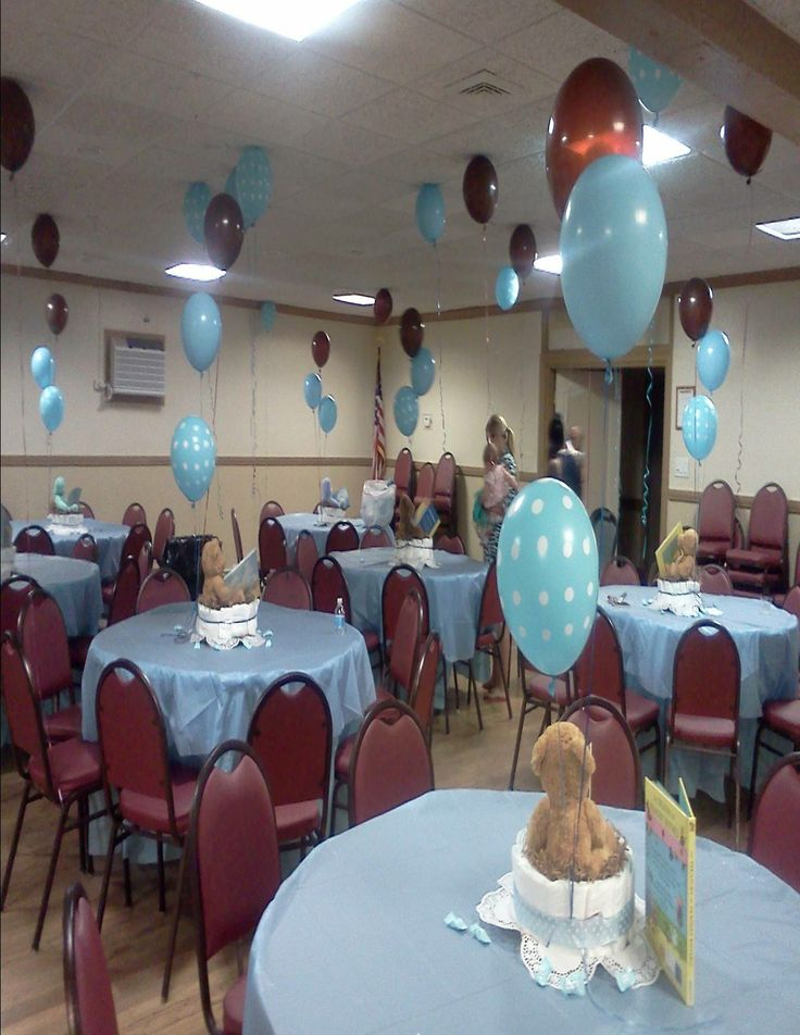 Baby Boy Shower With Teddy Bear Center Pieces Theresa