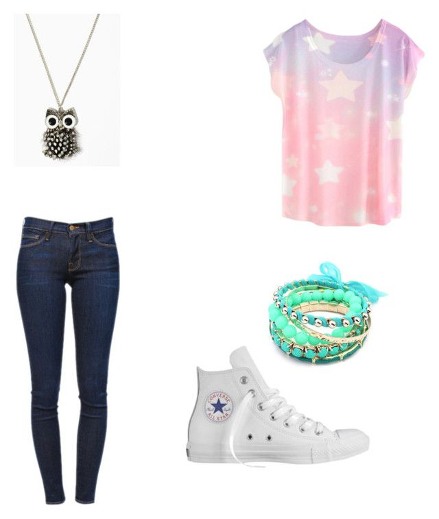 """Untitled #2"" by tina-80 on Polyvore featuring Frame, Converse and Ruby Rocks"