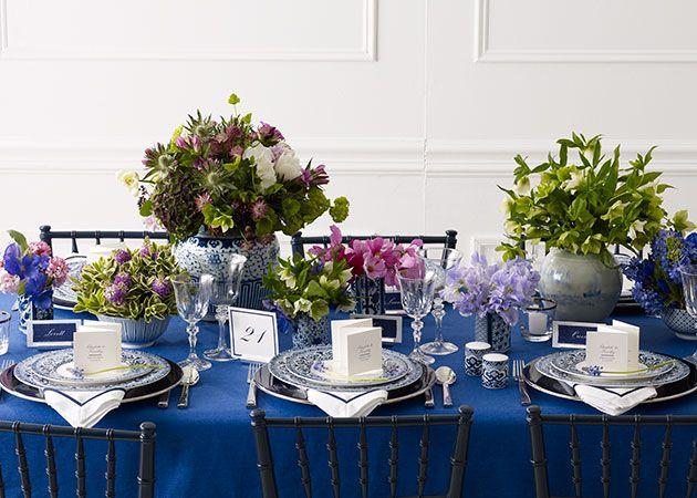 Ralph Lauren Reception Tabletop Ideas