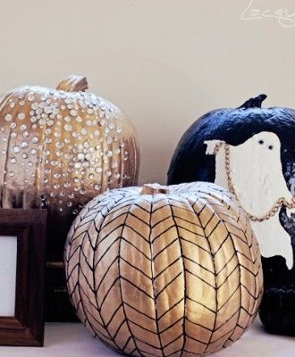 love these painted pumpkins..
