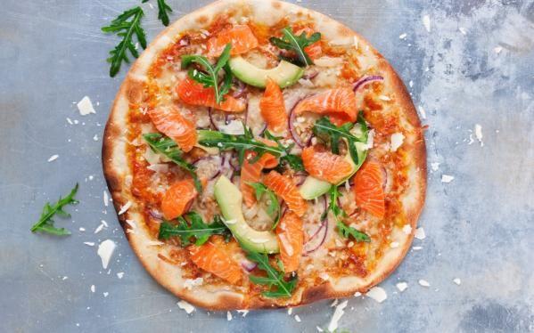 Oppskrift på SALMA-pizza, foto: Margrethe Myhrer