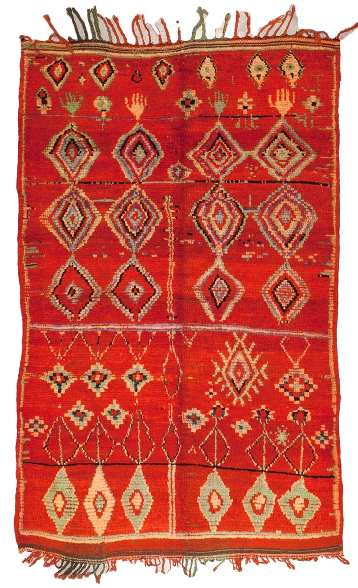 What is it about this shade of Red that gets me every time?  Moroccan Vintage Rugs