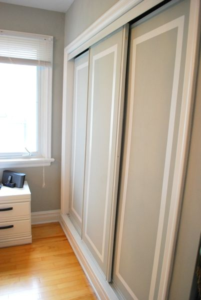 the DIY files: two-tone closet doors | the sweetest digs | the sweetest digs
