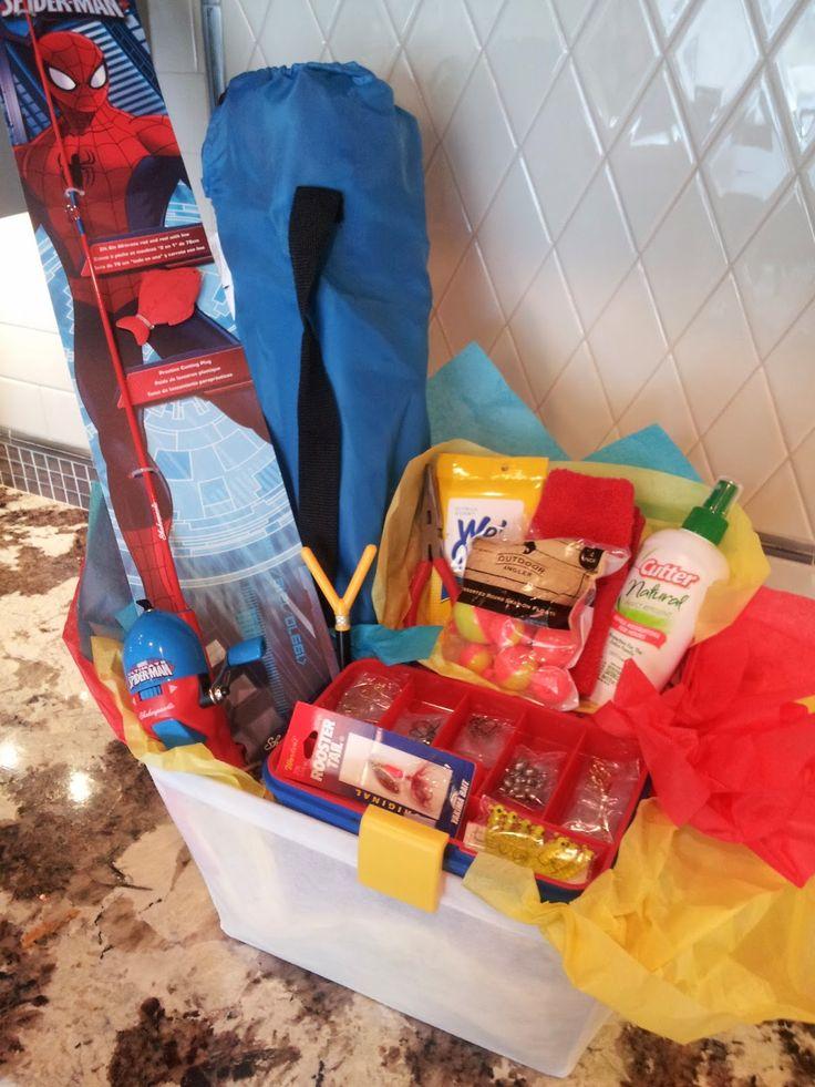 an enchanted imagination: Kids Fishing Gift Basket
