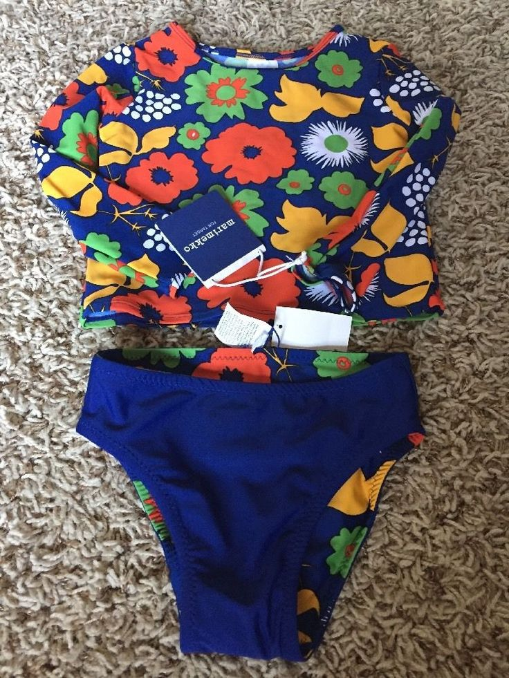 NWT Marimekko Toddler Girls Swimsuit Size 4T #Marimekko #TwoPiece