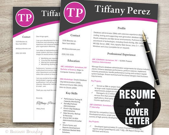 resume template resume cover letter template by businessbranding 1500