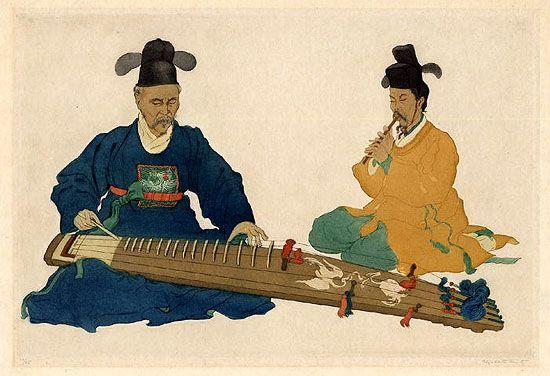Court Musicians, Korea by Elizabeth Keith