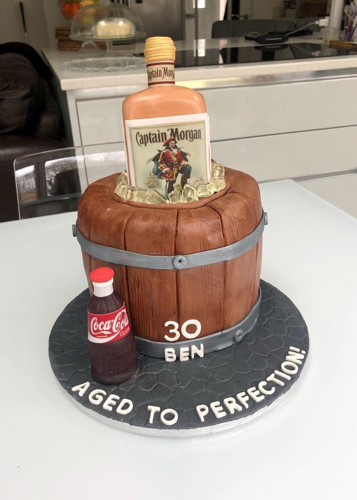 Captain Spiced Rum themed 30th Birthday Cake