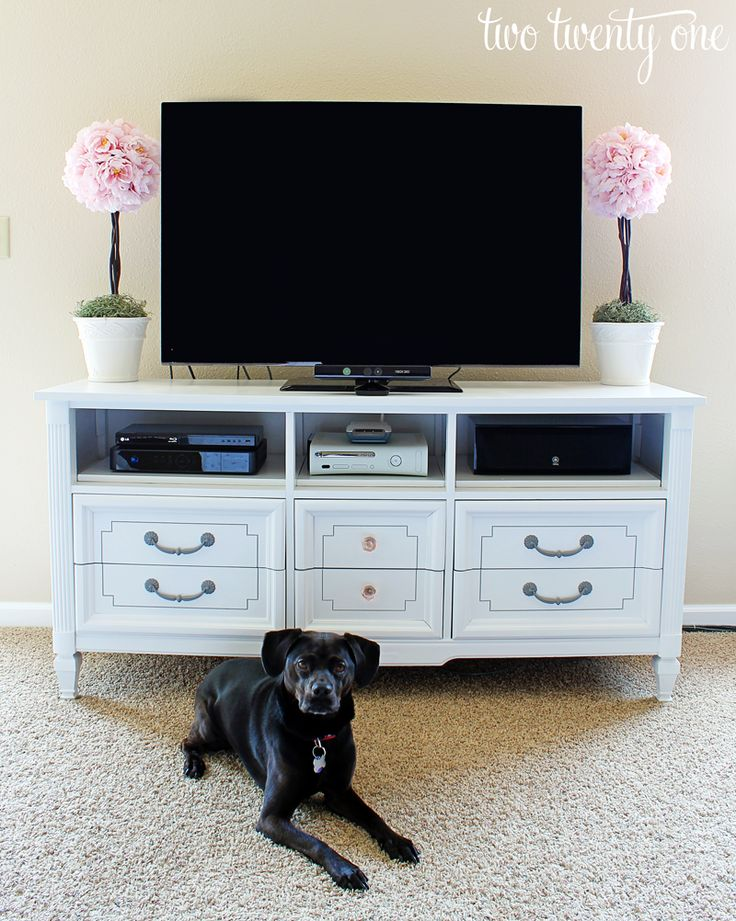 Dresser Re Purposed as a TV Stand 30