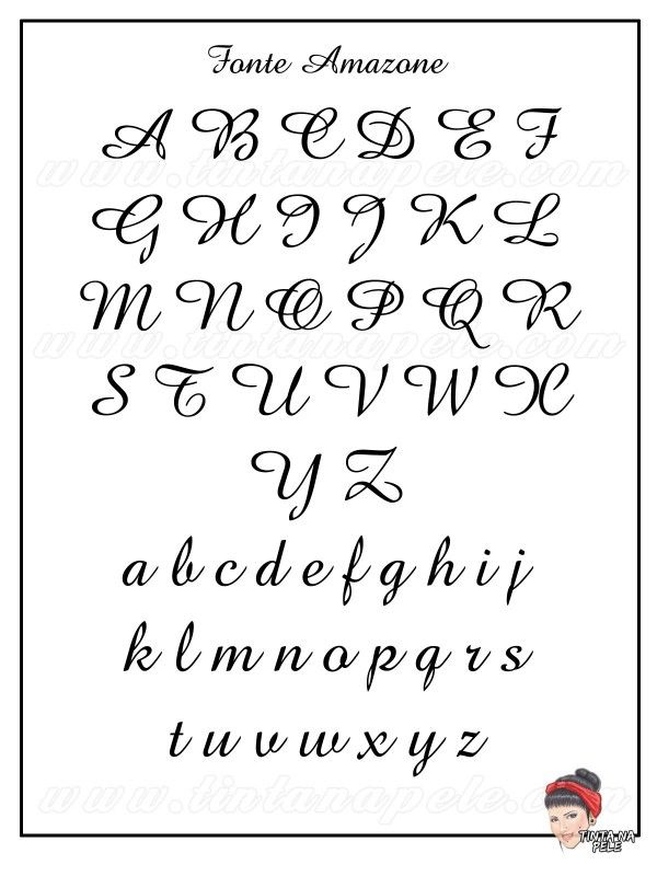 Letra para tatuagem: Fonte Amazone
