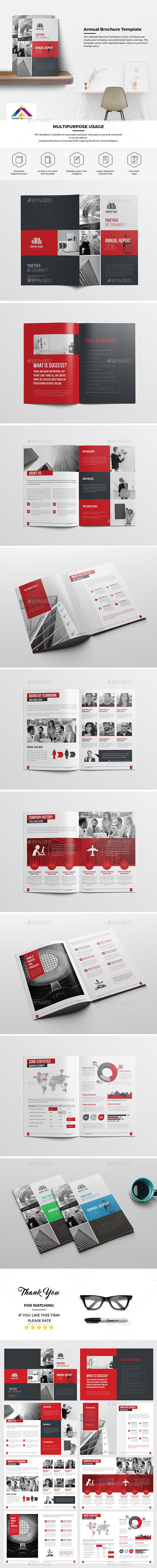 Haweya Annual Report 16 Page Template InDesign INDD. Download here: http://graphicriver.net/item/haweya-annual-report-16-page-/16409465?ref=ksioks