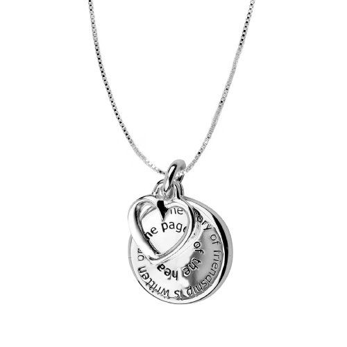 """Sterling Silver """"The Story of Friendship is Written on the Pages of the Heart"""" and """"I am a Better Me Because of You"""" Rever...' onload=""""if (typeof uet == 'function') { uet('af'); } $24.35"""