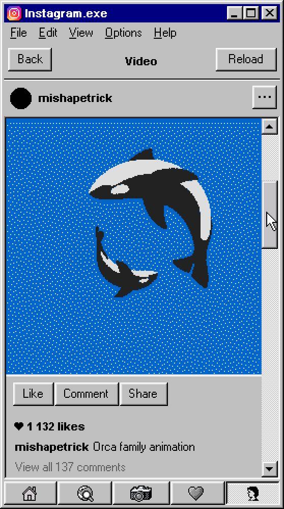 What Instagram Would Look Like On Windows 95 - UltraLinx