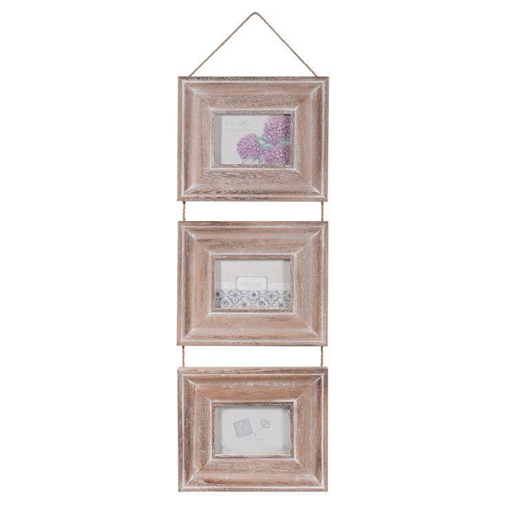 Cadre photo triple en bois 21 x 75 cm REILLANNE