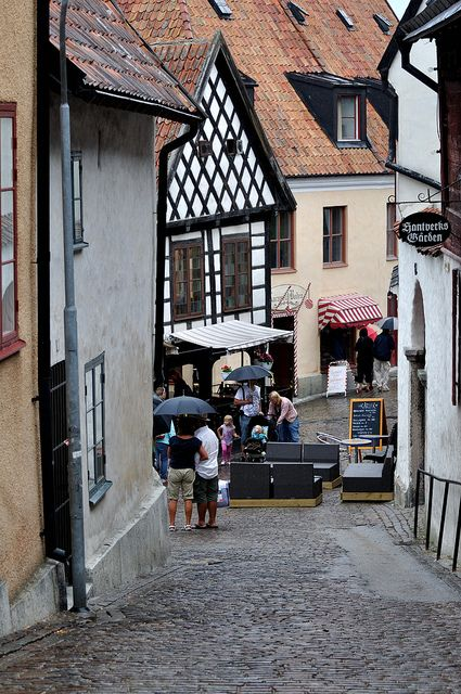 Visby, Gotland, Sweden. Every year on April 30th people in Sweden gather in huge crowds to sing songs to welcome spring. Bonfires and gigantic dances are included as thousands of people sing! I seriously want to see this