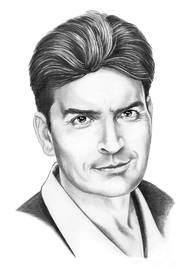 Charlie sheen by murphy elliott traditional pencil art · pencil art drawingsrealistic drawingsart drawings sketchescelebrity