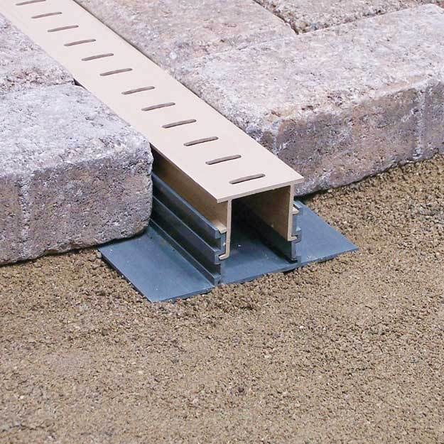 The Drainage Products Store - Stegmeier Adjustable Height Paver Drain (Tan) 5', $29.95 (http://stores.drainageproducts.us/stegmeier-adjustable-height-paver-drain-tan-5/)