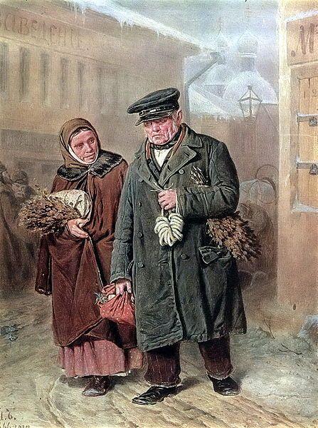 1866 |  В. Г. Перов. Чистый понедельник. Холст, масло. Третьяковская Галерея, Москва, Россия