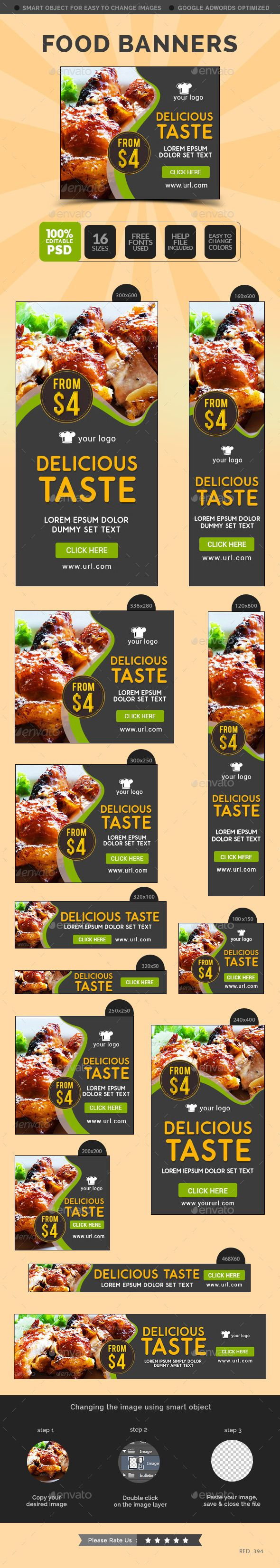 Food Banners Template #design Download: http://graphicriver.net/item/food-banners/12190783?ref=ksioks
