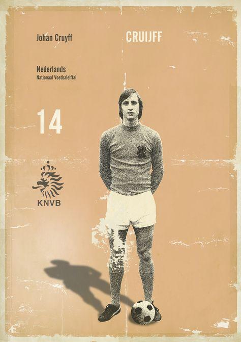 Manners Vette retro voetbalplaten voor bij jou aan de muur 37
