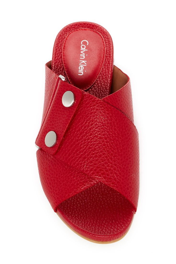 Pamice Glazed Tumbled Sandal by CALVIN KLEIN FOOTWEAR WHITE LAB on @nordstrom_rack