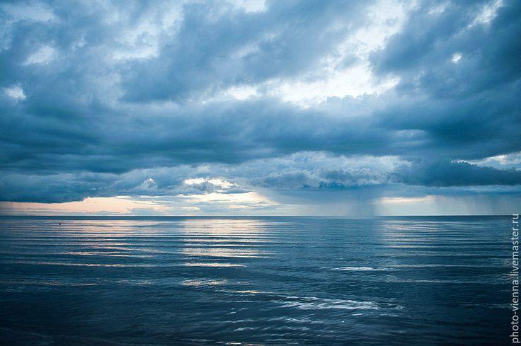 Купить Фотокартина авторская Синее-синее море - темно-синий, фотокартина авторская, природа, море