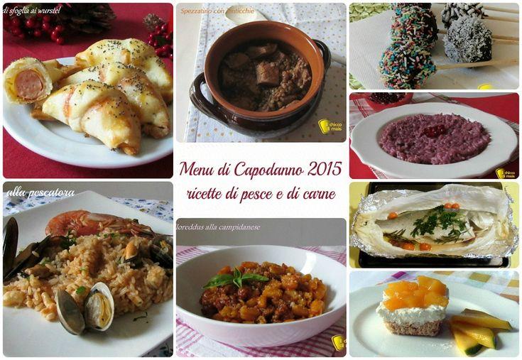 Menu di capodanno 2015: ricette di pesce e di carne per il cenone di San Silvestro piatti vegetariani e ricette facili ed economiche dall'antipasto al dolce