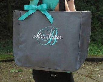 Personalizada novia bolso de totalizador, bolso de Dama de honor, bolsa de Dama de Honor, Monograma bolso de mano