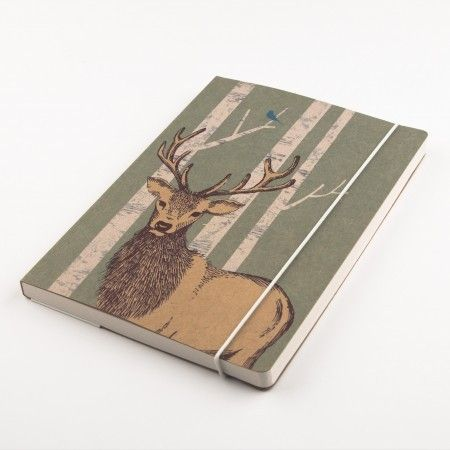 Woodland Trust Stag A5 Notebook - £8.50