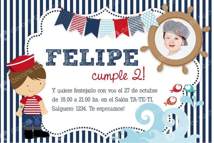 17 mejores ideas sobre Invitaciones De Cumpleaños Náutico ...