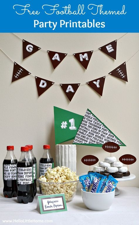 Free Football Themed Party Printables   Hello Little Home   Bloglovin'